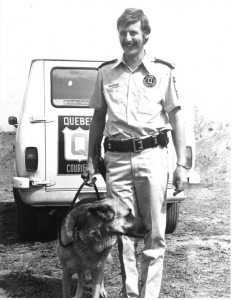 dog and officer
